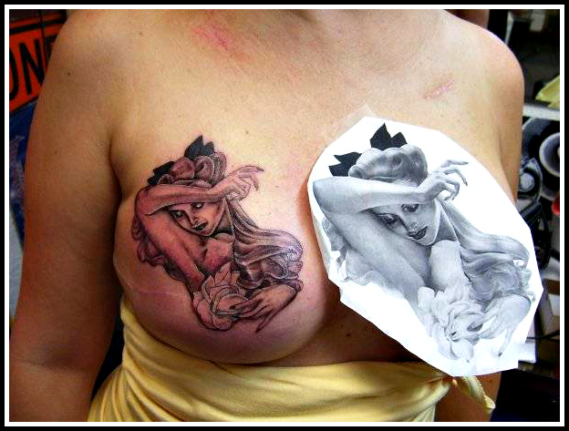 Inside style home courageous women who wear mastectomy for Breast reconstruction tattoos